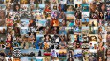 پروژه افترافکت مجموعه 10 نمایش لوگو با موزاییک تصاویر