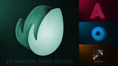 پروژه افترافکت نمایش لوگو 3D Minimal Dark