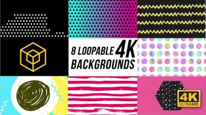 مجموعه موشن گرافیک 8 زمینه متحرک رنگی