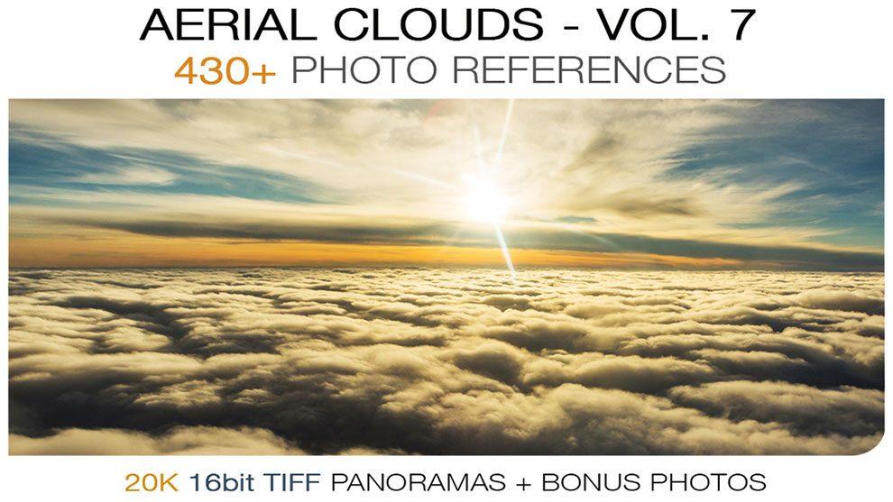 مجموعه تصاویر پانوراما ابر Aerial Clouds vol.7