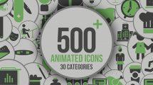 پروژه افترافکت مجموعه 500 انیمیشن آیکون بهمراه افکت صوتی