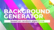 پروژه افترافکت ساخت انیمیشن زمینه متحرک Background Generator