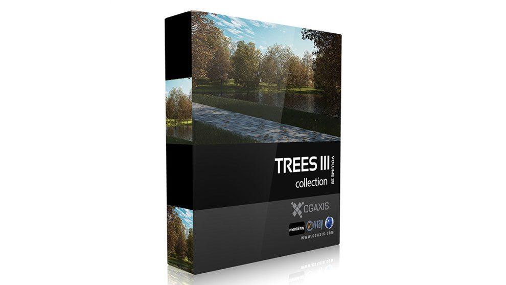 مجموعه مدل سه بعدی درخت CGAxis Models Volume 28 Trees iii