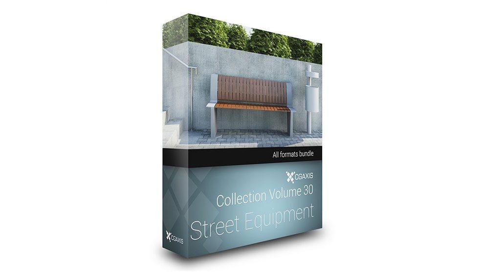 مجموعه مدل سه بعدی اجزای خیابان CGAxis Models Volume 30 Street Equipment
