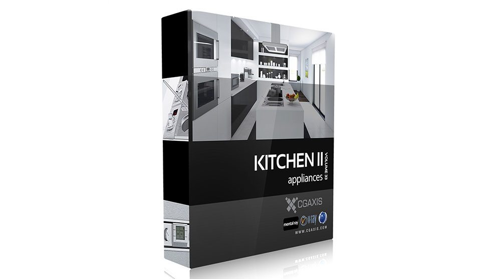 مجموعه مدل سه بعدی لوازم آشپزخانه