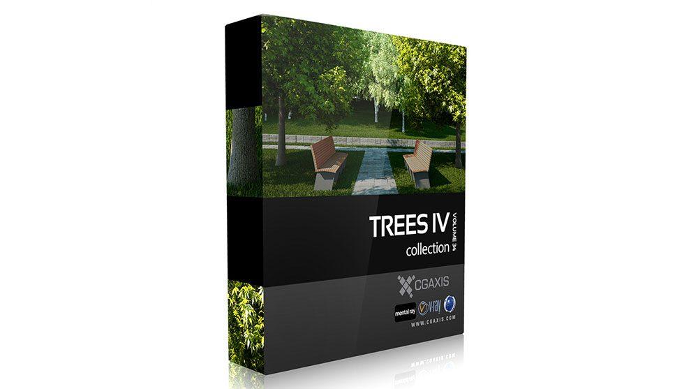 مجموعه مدل سه بعدی درخت CGAxis Models Volume 34 Trees IV