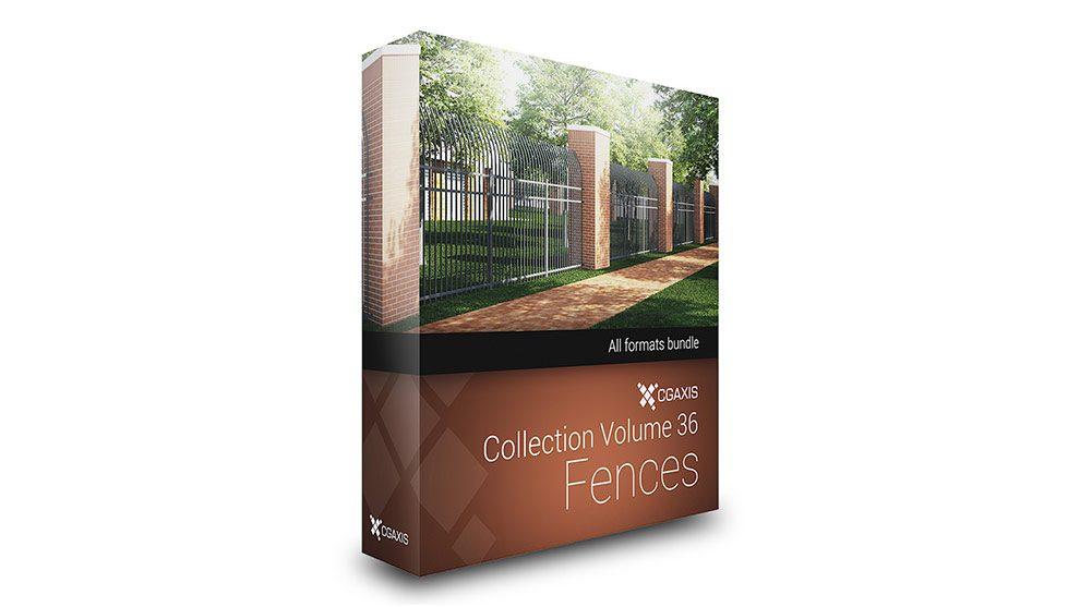 مجموعه مدل سه بعدی حفاظ CGAxis Models Volume 36 Fences