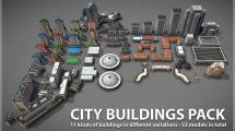 مجموعه مدل سه بعدی ساختمان City Buildings Pack