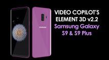 مجموعه مدل سه بعدی گوشی سامسونگ Galaxy S9 برای Element 3D