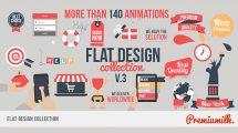 پروژه افترافکت تیزر تبلیغاتی با طراحی فلت Flat Design