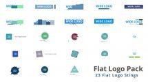 پروژه افترافکت مجموعه نمایش لوگو فلت Flat Logo Pack