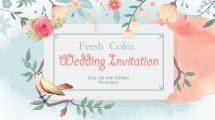 پروژه افترافکت دعوت عروسی Fresh Color Wedding Invitation