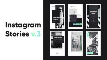 پروژه افترافکت استوری اینستاگرام Instagram Stories v3