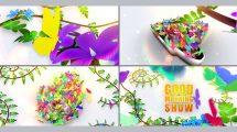 پروژه افترافکت نمایش لوگو با پروانه های رنگی