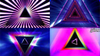 مجموعه ویدیوی موشن گرافیک زمینه متحرک پرتوهای منشوری Prism Rays