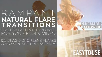 مجموعه فوتیج ویدیویی ترانزیشن نوری Rampant Natural Flare Transitions