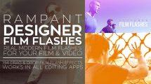 مجموعه فوتیج ویدیویی فلش فیلم Rampant Designer Film Flashes
