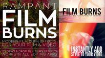 مجموعه فوتیج ویدیویی افکت سوختن فیلم Rampant Film Burns