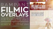 مجموعه فوتیج ویدیویی پوشش فیلم Rampant Filmic Overlays