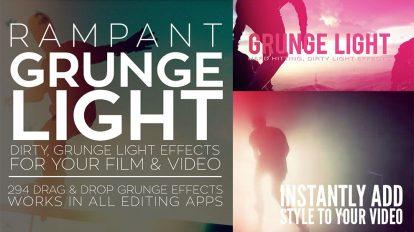 مجموعه فوتیج ویدیویی افکت نور گرانج Rampant Grunge Light