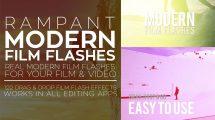 مجموعه فوتیج ویدیویی فلش فیلم مدرن Rampant Modern Film Flashes