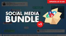 پروژه افترافکت باندل شبکه های اجتماعی Social Media Bundle v2