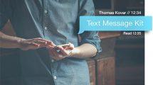 پروژه افترافکت مجموعه انیمیشن پیامک Text Message Kit