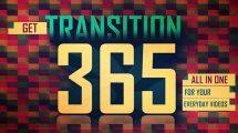 پروژه افترافکت مجموعه ترانزیشن Transitions 365