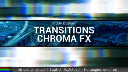 پروژه افترافکت مجموعه ترانزیشن Transitions Chroma FX