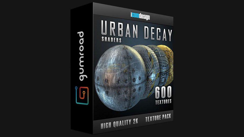 مجموعه متریال سه بعدی Urban Decay برای پلاگین Element 3D