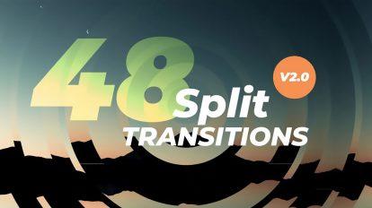 پروژه پریمیر 48 ترانزیشن برشی Dynamic Split Transitions