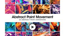 مجموعه ویدیوی موشن گرافیک زمینه متحرک نقاشی Abstract Paint Movement