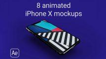پروژه افترافکت موکاپ آیفون Animated iPhone X Mockups