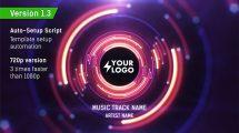 پروژه افترافکت نمایش لوگو در تونل ویژوالایزر موزیک Audio React