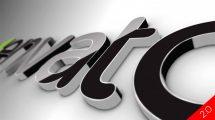 پروژه افترافکت نمایش لوگو سه بعدی کلاسیک Black Classic 3D Logo