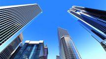 ویدیوی موشن گرافیک از ساختمان های تجاری شهر Business City