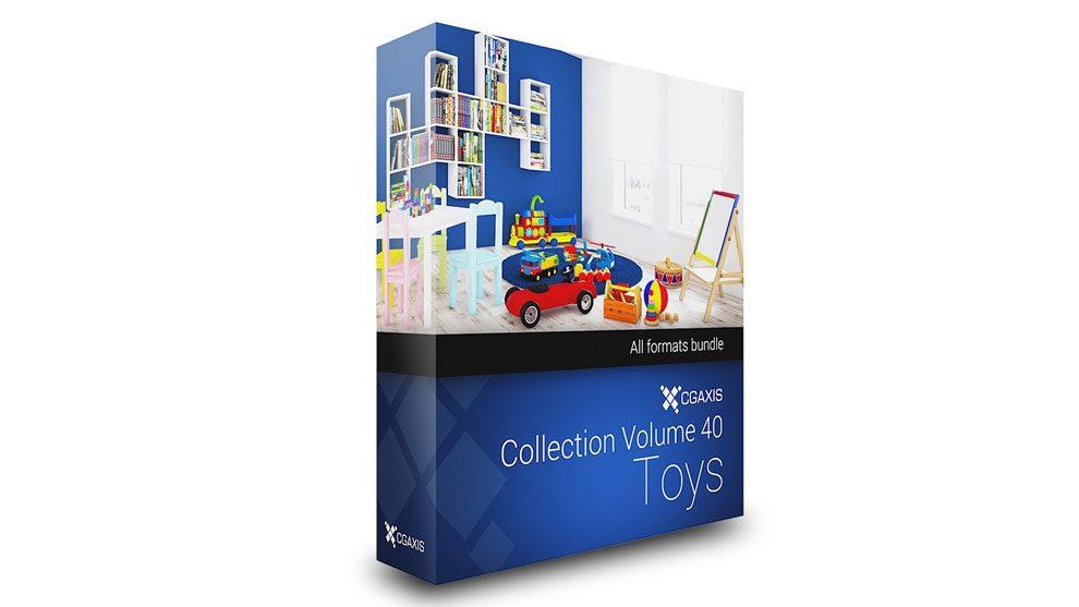 مجموعه مدل سه بعدی اسباب بازی کودک CGAxis Models Volume 40 Toys