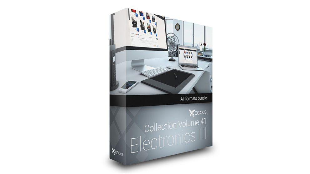مجموعه مدل سه بعدی تجهیزات الکترونیکی CGAxis Models Volume 41 Electronics III