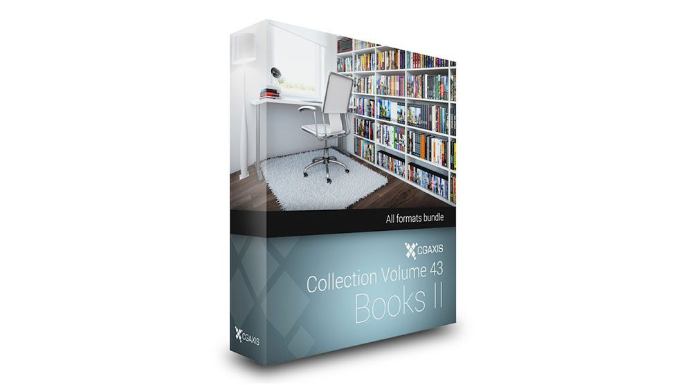 مجموعه مدل سه بعدی کتاب CGAxis Models Volume 43 Books ii