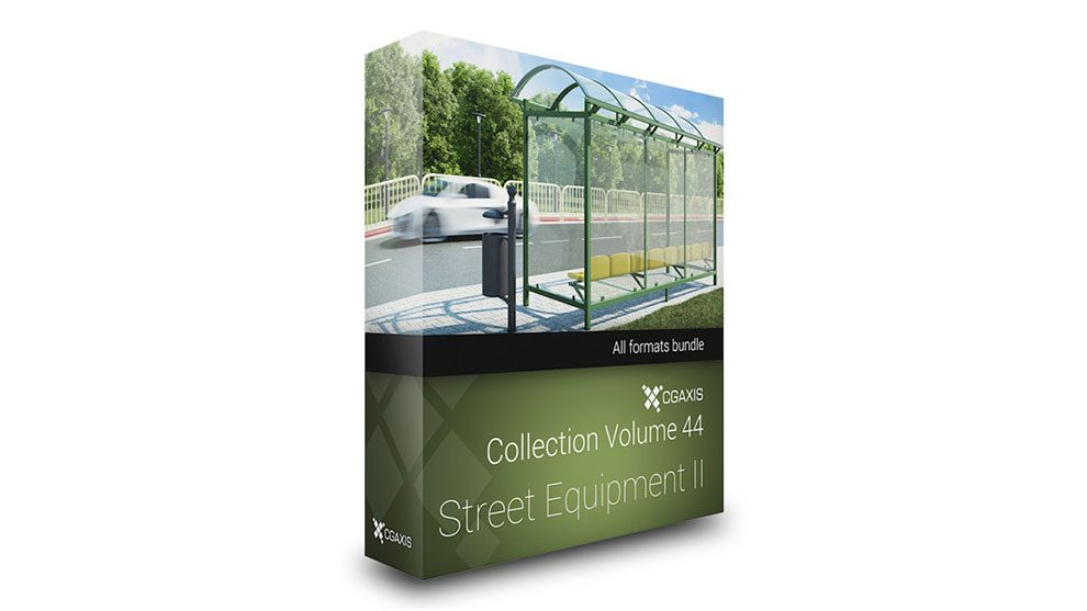 مدل سه بعدی تجهیزات خیابان CGAxis Models Volume 44 Street