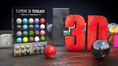 پروژه افترافکت متریال سه بعدی برای پلاگین Element 3D