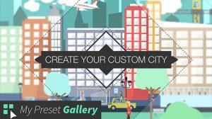 پروژه افترافکت مجموعه انیمیشن فلت شهری Flat City Vector