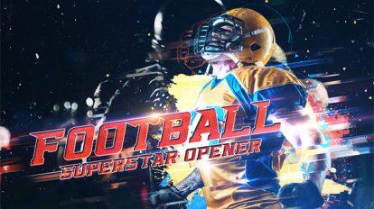 پروژه افترافکت افتتاحیه ورزشی فوتبال Football Superstar Opener