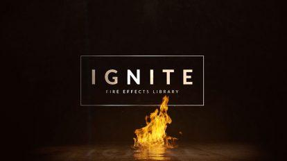 مجموعه 500 فوتیج ویدیویی آتش Ignite Fire Effects