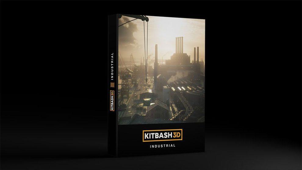 مدل سه بعدی کارخانه و محیط صنعتی Kitbash3D Industrial