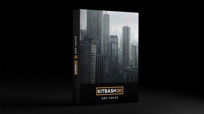مدل سه بعدی محیط شهر توکیو مدرن Kitbash3D Neo Tokyo