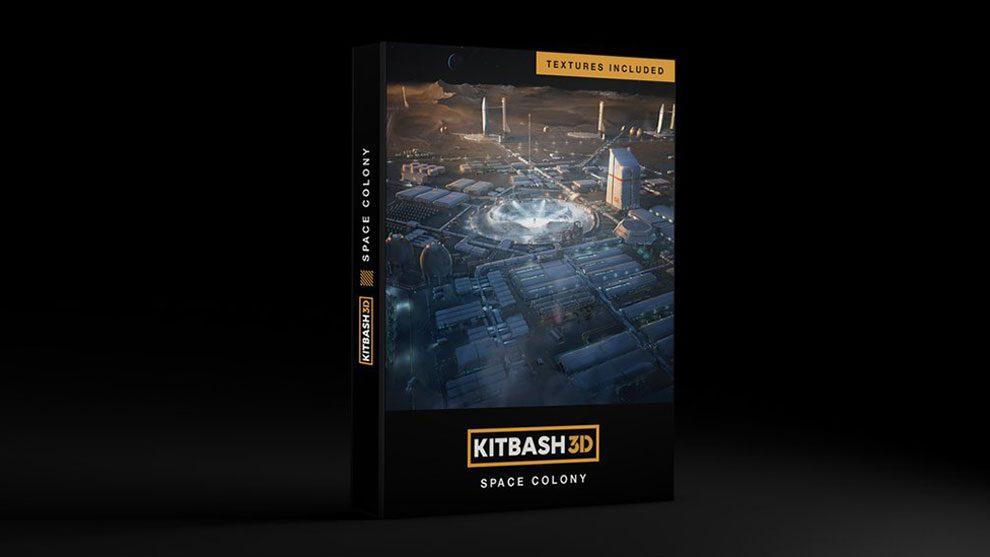 مدل سه بعدی جامعه مستقر در فضا Kitbash3D Space Colony