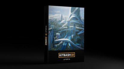 مدل سه بعدی محیط شهر پیشرفته Kitbash3D Utopia