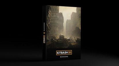 مدل سه بعدی محیط منطقه جنگی Kitbash3D Warzone