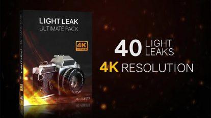 مجموعه موشن گرافیک افکت نشتی نور Light Leaks 4K Ultimate Pack